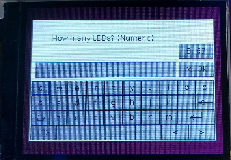 Number of LEDs